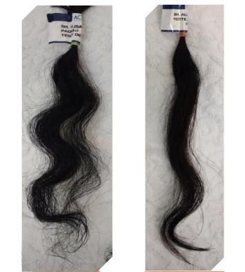 Antes e depois em cabelos cacheados