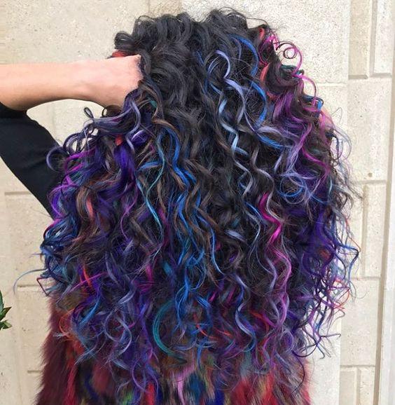 cabelo colorido muitas cores tutanat