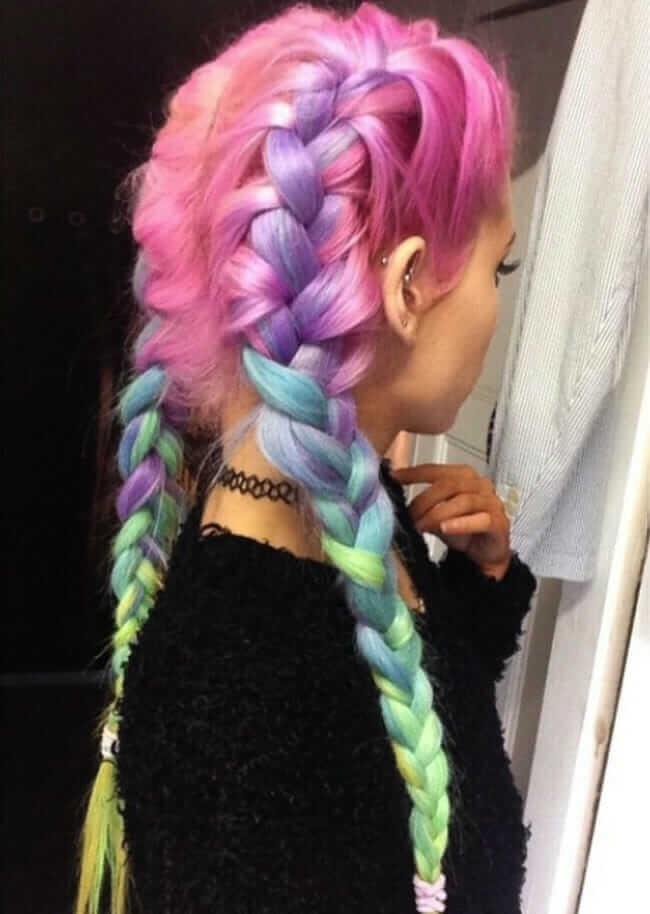 cabelo colorido tutanat