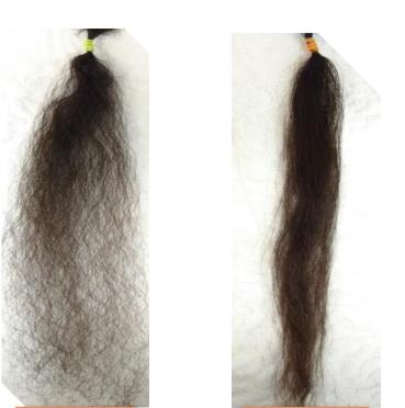Antes e depois em cabelos crespos